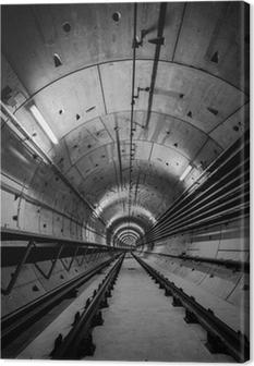 Tableau sur toile Tunnel de métro profonde