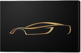 Tableau sur toile Un logo rapide