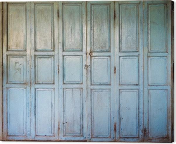 Tableau sur toile Un vieilles portes en bois • Pixers® - Nous vivons ...