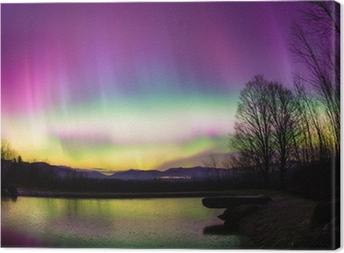 Tableau sur toile Uncommon Aurora Borealis dans le Vermont.