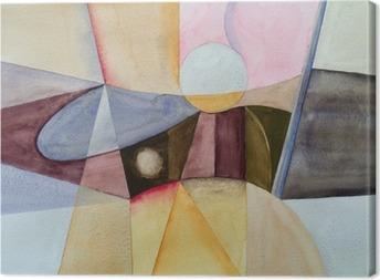Tableau sur toile Une aquarelle abstraite moderniste