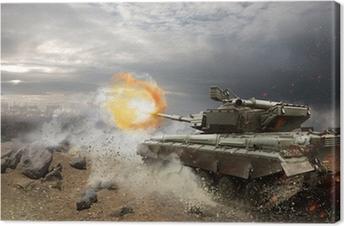 Tableau sur toile Une armure lourde dans le feu de la bataille