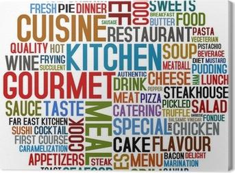 Tableau sur toile Une cuisine gastronomique et