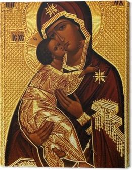 Tableau sur toile Une icône orthodoxe de Marie, Vladimirskaya