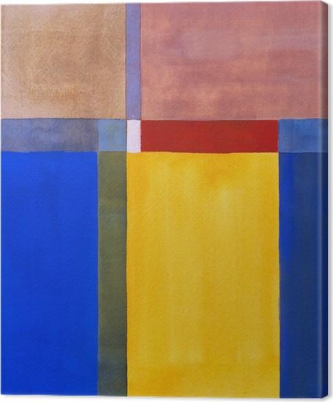 Tableau sur toile une peinture abstraite minimaliste for Tableau minimaliste