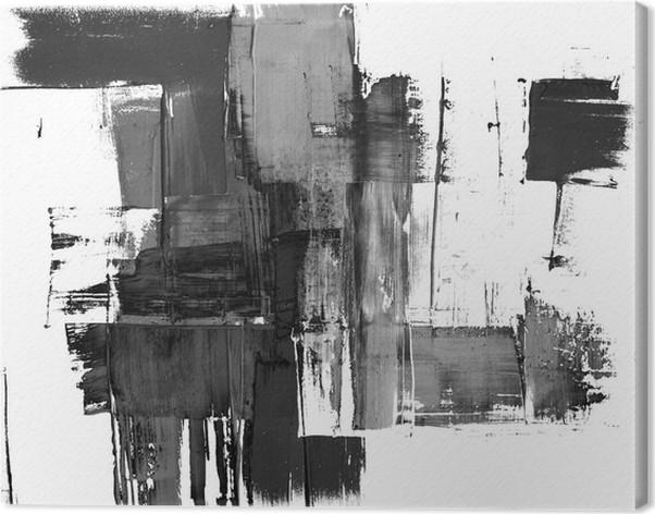 tableau sur toile une peinture abstraite splatter frame en noir et blanc pixers nous. Black Bedroom Furniture Sets. Home Design Ideas
