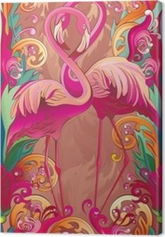 Tableau sur toile Une série de panneaux oiseaux: Paradise