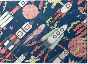 Tableau sur toile Vaisseau spatial pattern