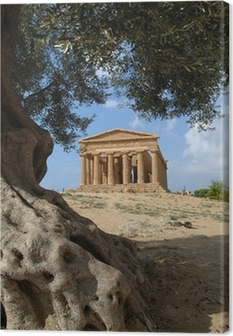 Tableau sur toile Valle dei Templi d'Agrigente, sicile, italie
