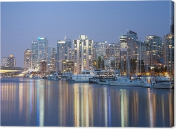 Tableau sur toile Vancouver skyline at night