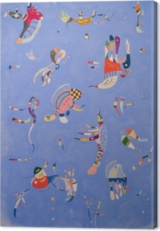 Tableau sur toile Vassily Kandinsky - Bleu de ciel