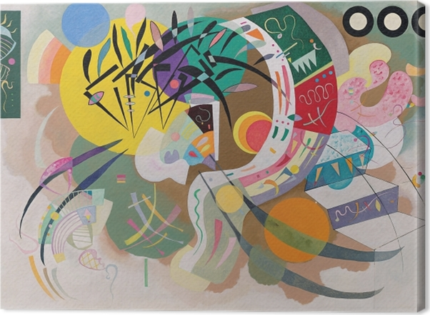 Tableau sur toile Vassily Kandinsky - Courbe dominante - Reproductions