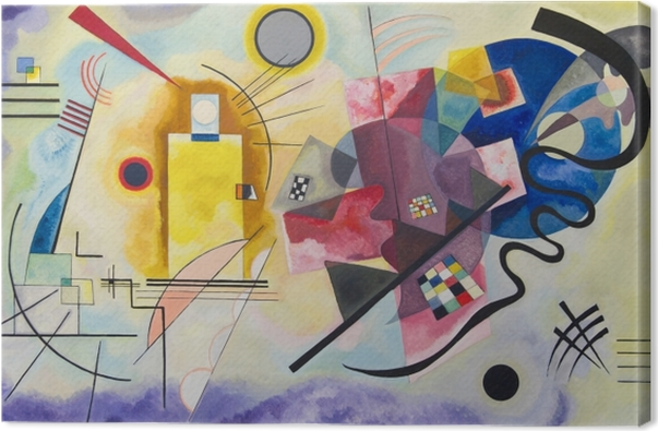 Tableau sur toile Vassily Kandinsky - Jaune – rouge – bleu - Reproductions