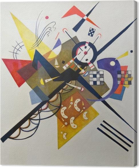 Tableau sur toile Vassily Kandinsky - Sur blanc no 2 - Reproductions