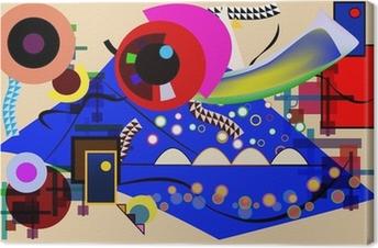 Tableau sur toile Vecteur abstrait - hommage gratuit à Kandinsky