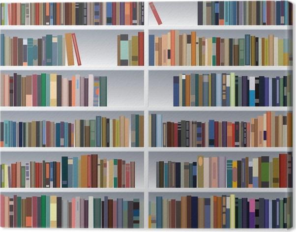 Tableau sur toile Vecteur bibliothèque moderne • Pixers® - Nous ...