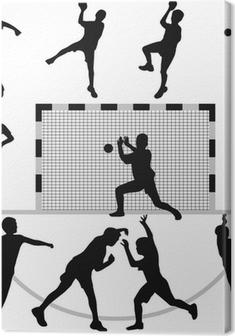 Tableau sur toile Vecteur de silhouette de handball