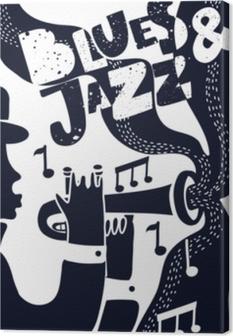 Tableau sur toile Vecteur jazz poter