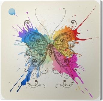 Tableau sur Toile Vector decorative butterfly