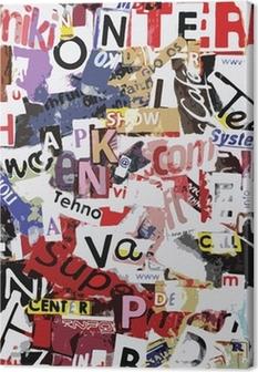 Tableau sur toile Vector grunge texte