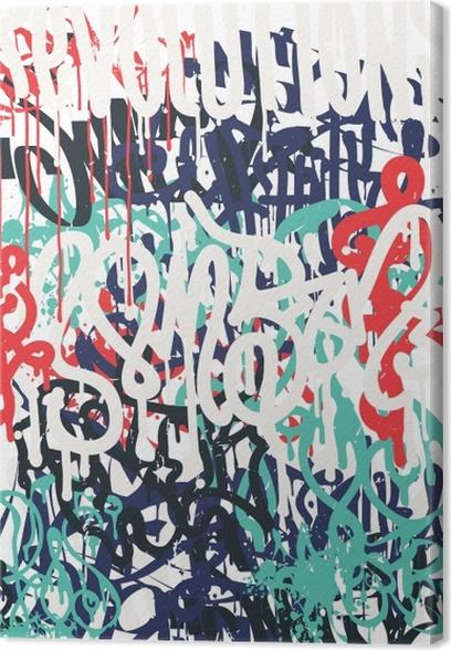 Tableau Sur Toile Vector Mode Police Graffiti Dessin Revolutions Main Rătro Texture De Police De Style Des ălăments De Design En Noir Blanc