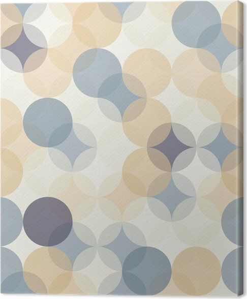 tableau sur toile vector modernes color s cercles de motif. Black Bedroom Furniture Sets. Home Design Ideas
