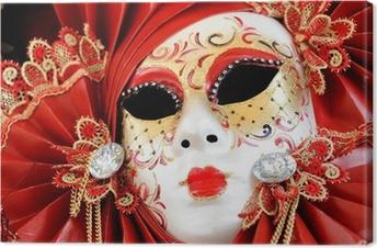 Tableau sur toile Venise masque de carnaval