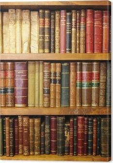 Tableau sur toile Vieux livres de bibliothèque