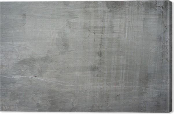 tableau sur toile vieux mur gris b ton de ciment de pierre fissur e cru sale pixers nous. Black Bedroom Furniture Sets. Home Design Ideas