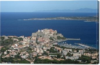 Tableau sur toile Ville de Calvi, Balagne, Corse, Corse