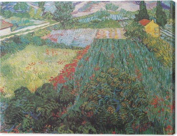 Tableau sur toile Vincent van Gogh - Champ aux coquelicots - Reproductions