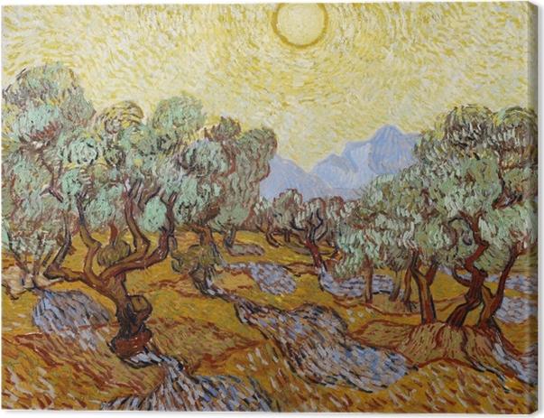 Tableau sur toile Vincent van Gogh - Champ d'oliviers - Reproductions