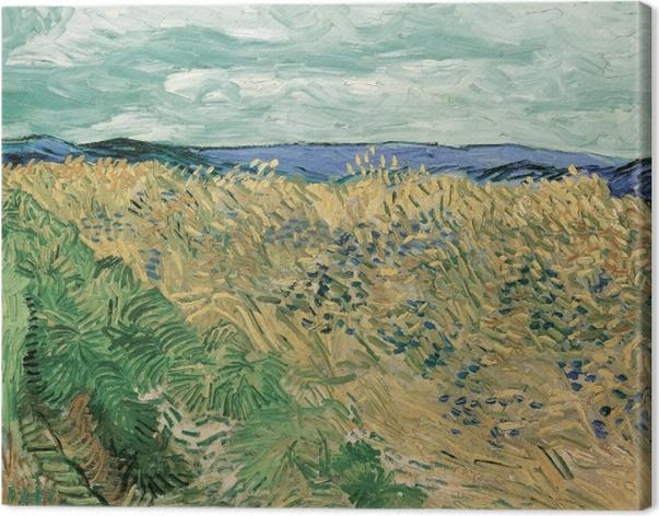 Tableau sur toile Vincent van Gogh - Champ de blé aux bleuets - Reproductions