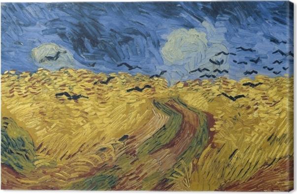 Tableau sur toile Vincent van Gogh - Champ de blé aux corbeaux - Reproductions