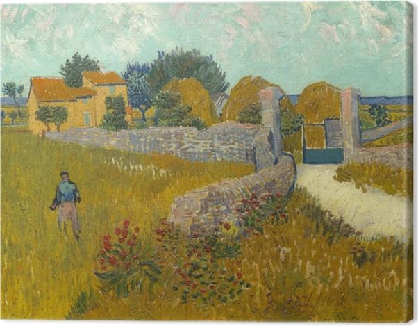 Tableau sur toile Vincent van Gogh - Champ de blé - Reproductions