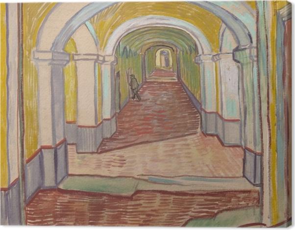 Tableau sur toile Vincent van Gogh - Couloir dans l'asile - Reproductions