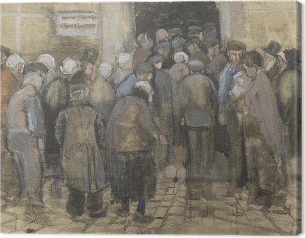 Tableau sur toile Vincent van Gogh - faire la queue pour l'argent mal - Reproductions