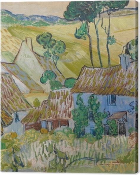 Tableau sur toile Vincent van Gogh - Fermes près d'Auvers - Reproductions