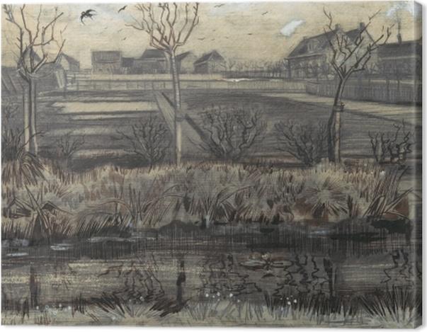 Tableau sur toile Vincent van Gogh - Garderie sur Schenkweg - Reproductions
