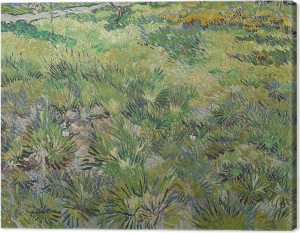 Tableau sur toile Vincent van Gogh - Herbes dans le jardin de l'hôpital de St Paul à St Remy - Reproductions