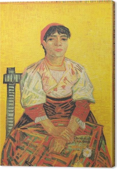 Tableau sur toile Vincent van Gogh - I'Italienne - Reproductions