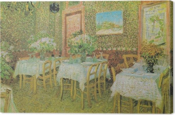 Tableau sur toile Vincent van Gogh - Intérieur d'un restaurant - Reproductions