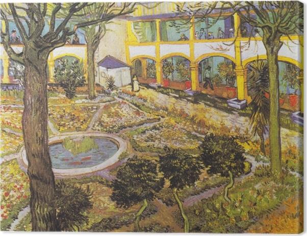 Tableau sur toile Vincent van Gogh - Jardin de l'hôpital à Arles - Reproductions