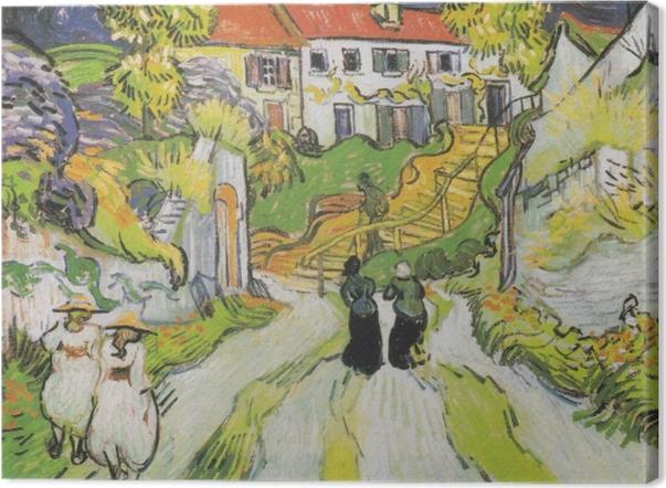 Tableau sur toile Vincent van Gogh - L'escalier d'Auvers - Reproductions