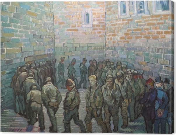 Tableau sur toile Vincent van Gogh - L'exercice des prisonniers - Reproductions