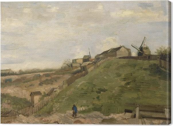 Tableau sur toile Vincent van Gogh - La Colline de Montmartre avec une carrière de pierres - Reproductions