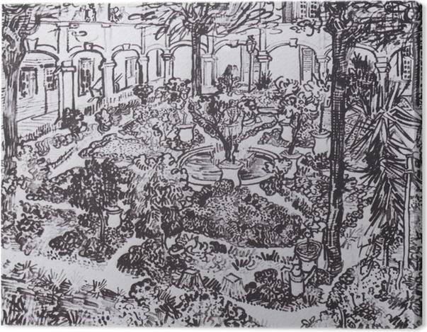 Tableau sur toile Vincent van Gogh - La cour de l'hôpital - Reproductions