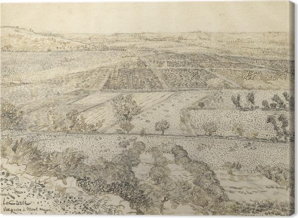 Tableau sur toile Vincent van Gogh - La Crau vu de Montmajour - Reproductions