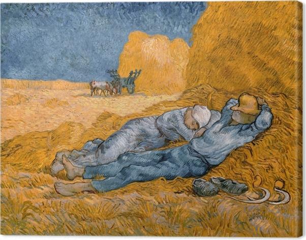 Tableau sur toile Vincent van Gogh - La méridienne ou La sieste - Reproductions