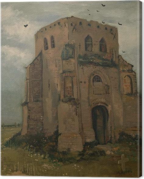 Tableau sur toile Vincent van Gogh - La vieille église Tour à Nuenen - Reproductions